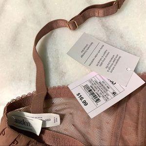 Auden Intimates & Sleepwear - auden • mauve pink lace unlined balconette bra 36d